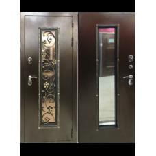 Дверь с кованым элементом Василек